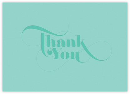 Thank You Blue - Teal - bluepoolroad - Thank You Cards
