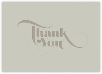 Thank You Blue - Grey - bluepoolroad - Greeting cards