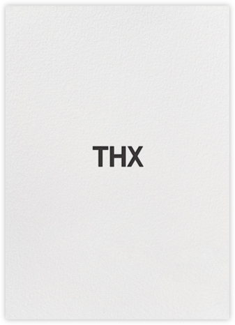 Thx - Black - bluepoolroad - bluepoolroad invitations and cards