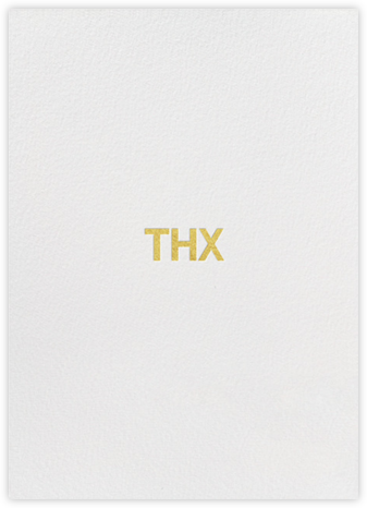 Thx - Gold - bluepoolroad - Thank you cards