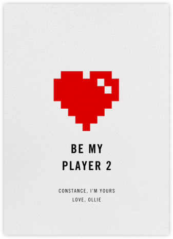 8Bit Heart - Paperless Post - Love Cards