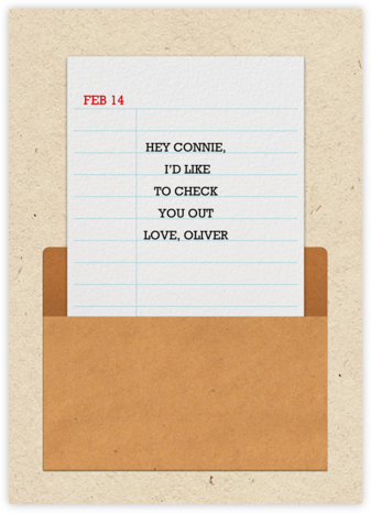 Library Card - Paperless Post - Valentine's Day Cards