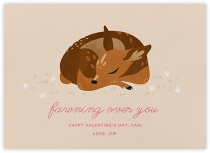 Fawned of You - Paperless Post - Valentine's day cards