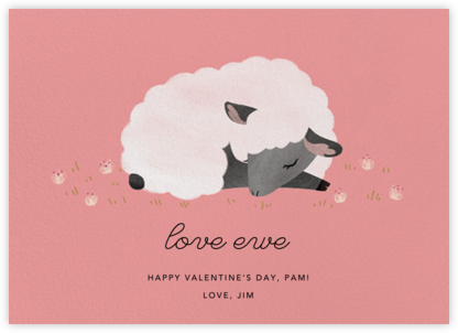 Love Ewe - Blossom - Paperless Post - Valentine's Day Cards