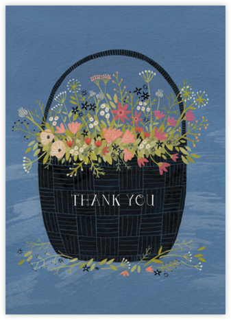 Flower Basket (Yelena Bryksenkova) - Red Cap Cards - Graduation Thank You Cards