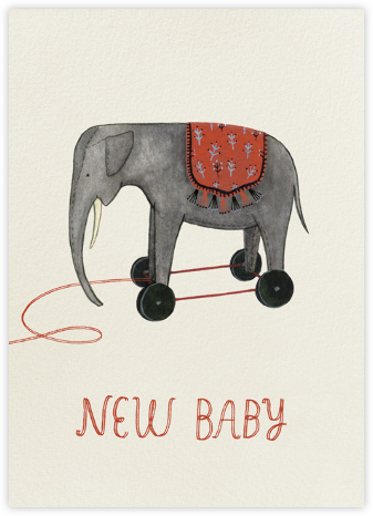 Pull Toy (Yelena Bryksenkova) - Red Cap Cards -