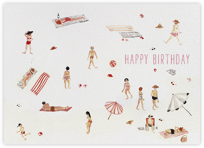 Beach Bums (Sarah Burwash) - Red Cap Cards - Birthday cards