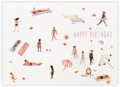 Beach Bums (Sarah Burwash) - Red Cap Cards - Birthday Cards for Him