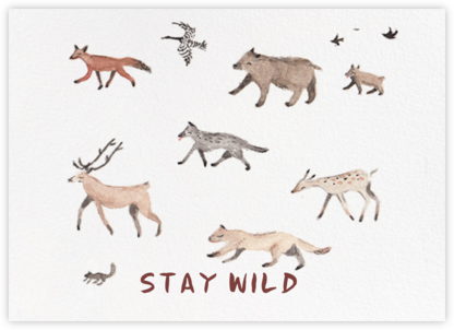 Stay Wild (Sarah Burwash) - Red Cap Cards - Birthday cards