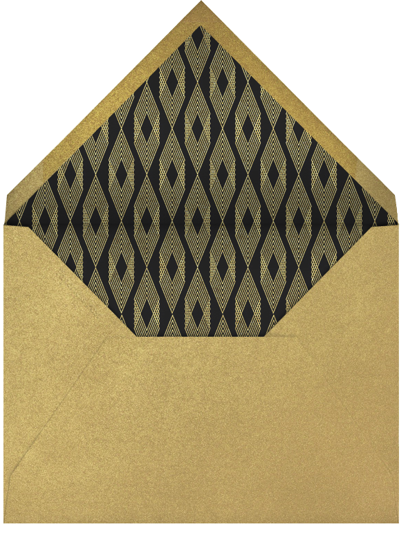 Deco Hex Frame - Gold - Paperless Post - Viewing party - envelope back