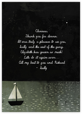 Boat Thank You (Jon Klassen) - Red Cap Cards - Red Cap Cards