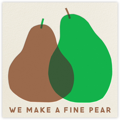 A Fine Pear - The Indigo Bunting - Valentine's Day Cards