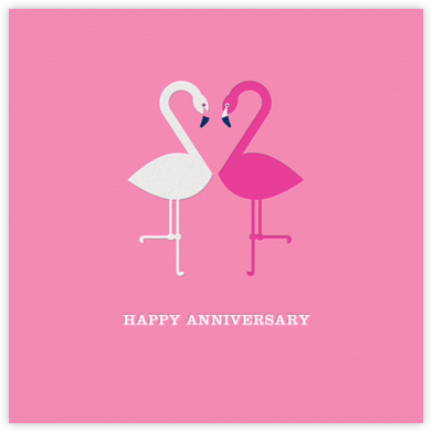 Flamingo Love ll | square