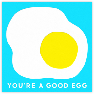 Good Egg - The Indigo Bunting - Valentine's Day Cards