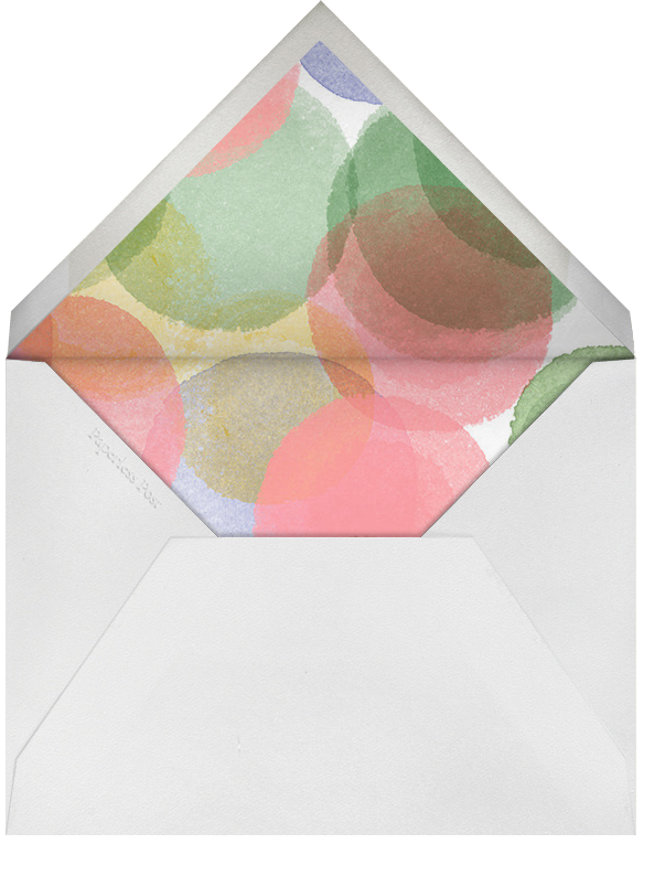 Birthday Watercolor - Crate & Barrel - Crate & Barrel invitations - envelope back