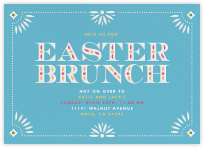 Easter Brunch - Crate & Barrel - Easter Invitations