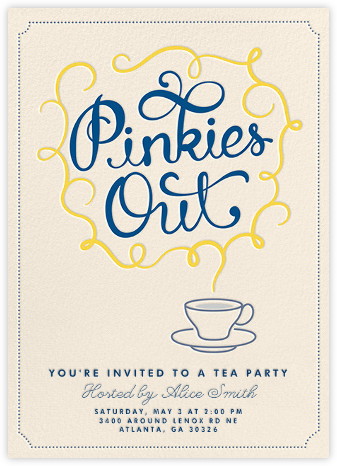 Pinkies Out - Crate & Barrel - Brunch invitations