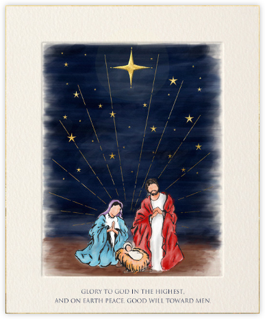Nativity - Paperless Post - Christmas Cards