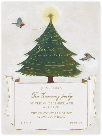 Tree Trimming - You're Invited - Paperless Post - Christmas invitations