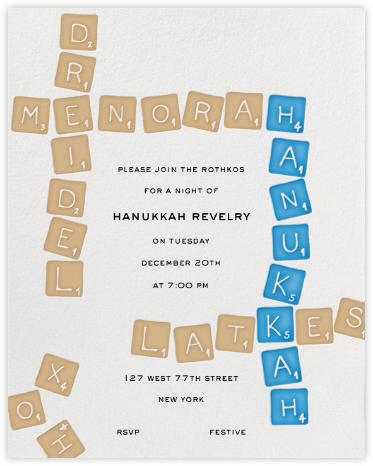 Hanukkah Scrabble - Paperless Post -