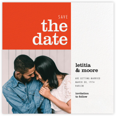 Edition - Paperless Post - Modern save the dates