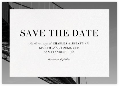 Cornice - Paperless Post - Save the dates