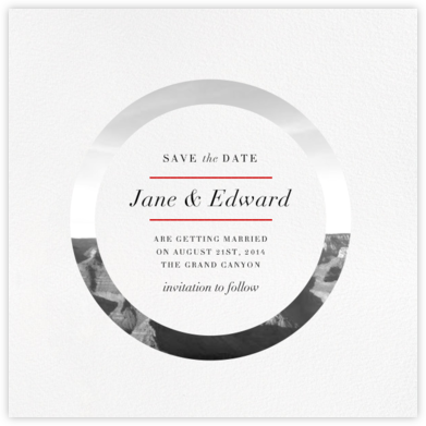 Aperture - Paperless Post - Modern save the dates