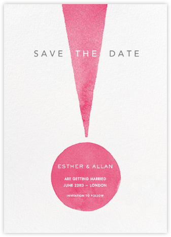 Forte - Paperless Post - Modern save the dates