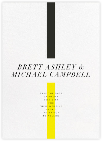 Chapter - Yellow - Paperless Post - Modern save the dates