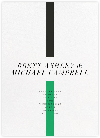 Chapter - Green - Paperless Post - Modern save the dates