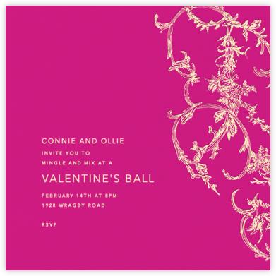 Silk Brocade I - Bright Pink - Oscar de la Renta - Valentine's Day invitations