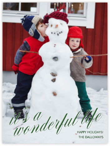It's a Wonderful Life -  Forest Green Tall - Paperless Post - Holiday Cards