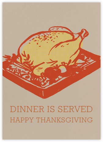 Dinner is Served - Paperless Post - Thanksgiving Cards