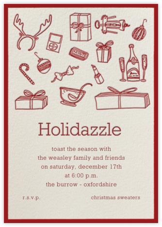 Holidazzle - Cream - Paperless Post - Invitations