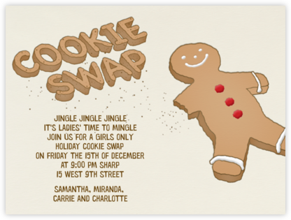 Cookie Swap - Paperless Post - Cookie Swap Invitations