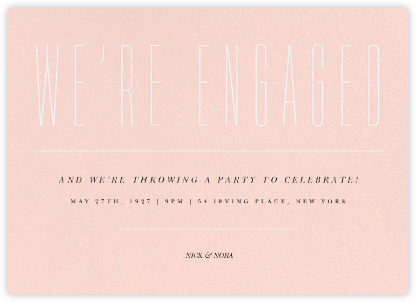 Narrows - Paperless Post - Engagement party invitations