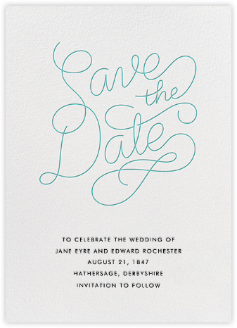 Bobbin (Save the Date) - Lagoon - Paperless Post - Save the dates