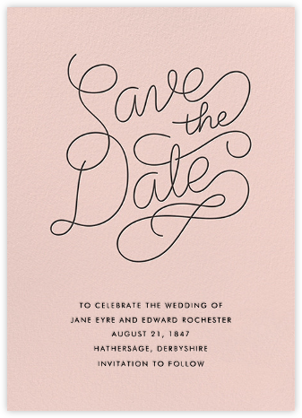 Bobbin (Save the Date) - Meringue - Paperless Post - Save the dates