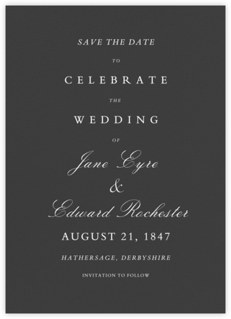 Specimen - Slate - Paperless Post - Save the dates