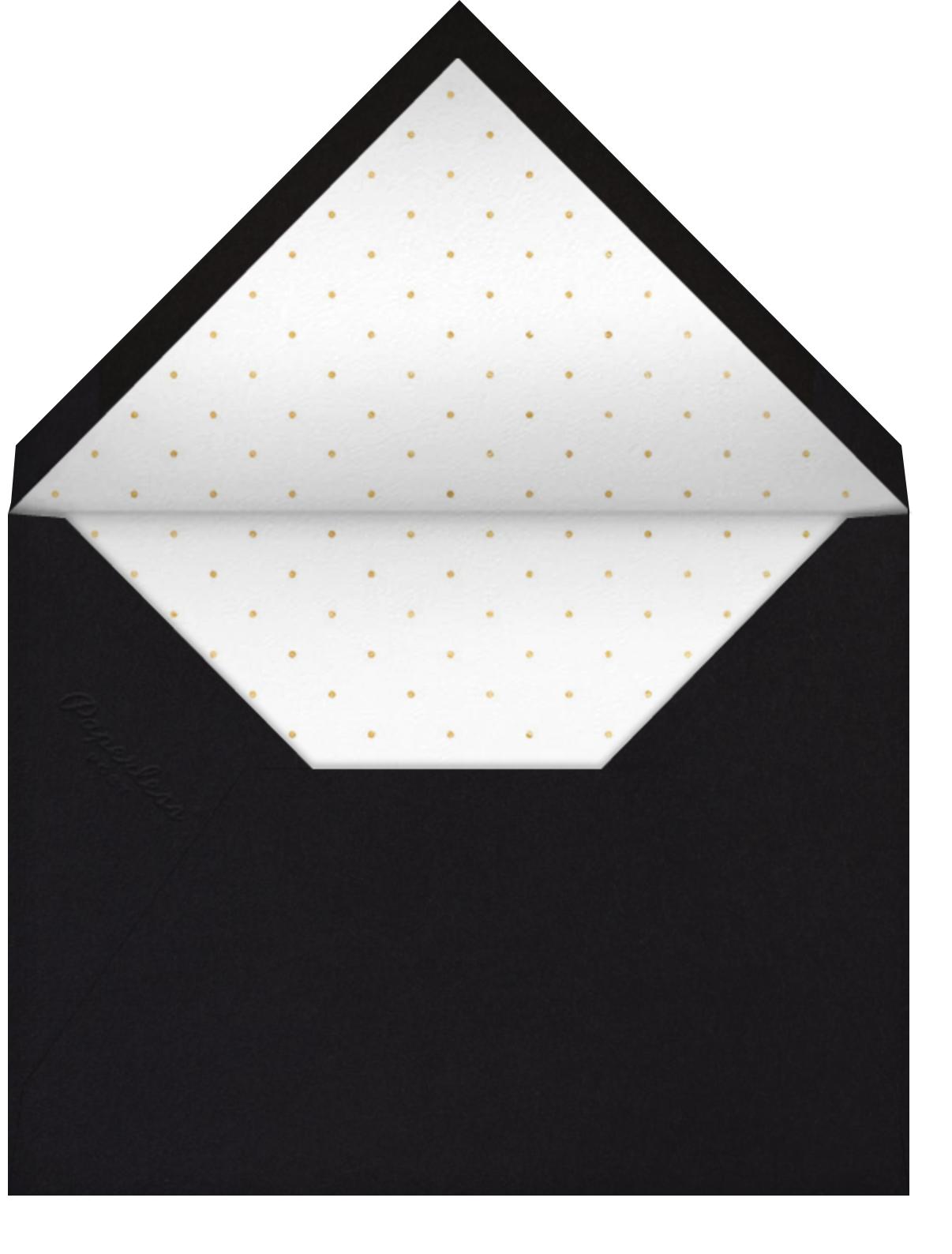 Matte - Black - Paperless Post - Engagement party - envelope back
