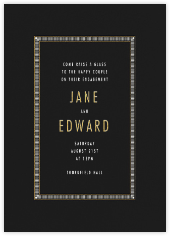 Matte - Black - Paperless Post - Engagement party invitations