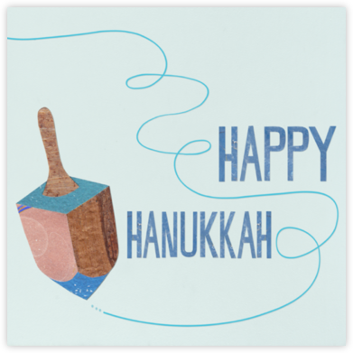 Dreidel - Paperless Post - Hanukkah Cards