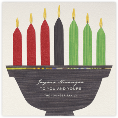 Kwanzaa - Seven Candles - Paperless Post - Kwanzaa Cards