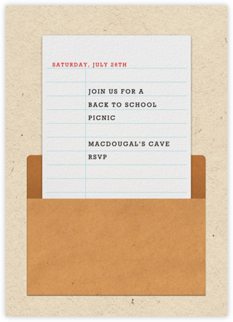Library Card - Paperless Post - Back-to-school invitations