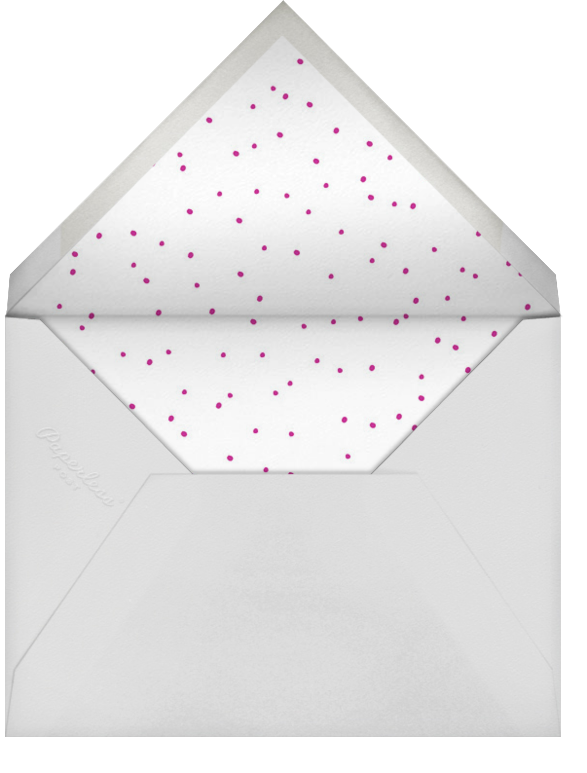 Ever After - Pink - Linda and Harriett - Bridal shower - envelope back