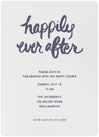 Ever After - Tall - Linda and Harriett - Engagement party invitations
