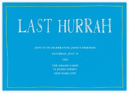 Last Hurrah - Sky Blue - Linda and Harriett - Showers and parties