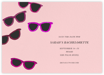 Sunglasses - Linda and Harriett - Bachelorette party invitations