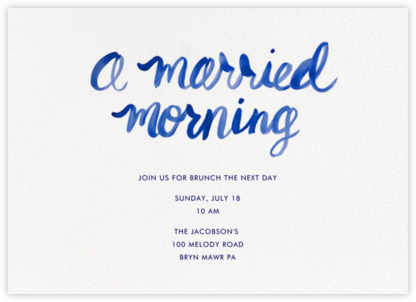 A Married Morning - Linda and Harriett - Wedding Weekend Invitations