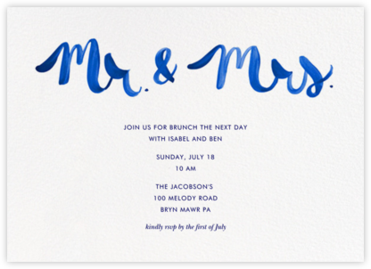 Mr. & Mrs. - Blue - Linda and Harriett -